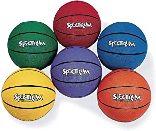 S&S Worldwide Spectrum Rubber Basketball - Junior-Blue