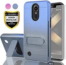 AYMECL LG K20 Plus Case,LG Harmony/LG K20/LG K20V/LG VS501/K10 2017/LG Grace LTE Case HD Screen Protector,[Card Slots Holder] TPU Gradient Color Case LG LV5-GC Blue&Cyan