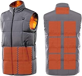 Warming Heated Vest, Electric Heated Vest with 3 Temperature 9 Heating Zones Heat Jacket for Outdoor Hiking and Camp(Batte...