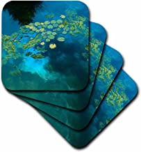 3dRose LLC Koi Blue Ceramic Tile Coaster, Set of 4