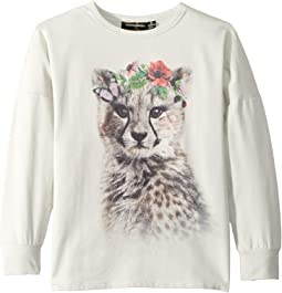 Floral Cheetah T-Shirt (Toddler/Little Kids/Big Kids)
