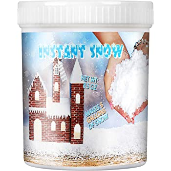 Instant Snow Powder – Makes 5 Gallon Fake Snow Artificial Snow Powder for Toys Could Slime, Amazing Super Snow Powder Magic Snow Maker Kit For Science Activities Party Holiday Decor and Winter Display