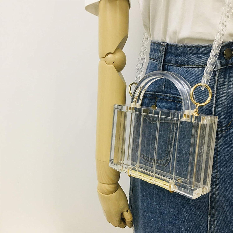 niumanery Transparent Fashion Women Vertical Pattern Handbag Chain Shoulder Bag Luxury A C