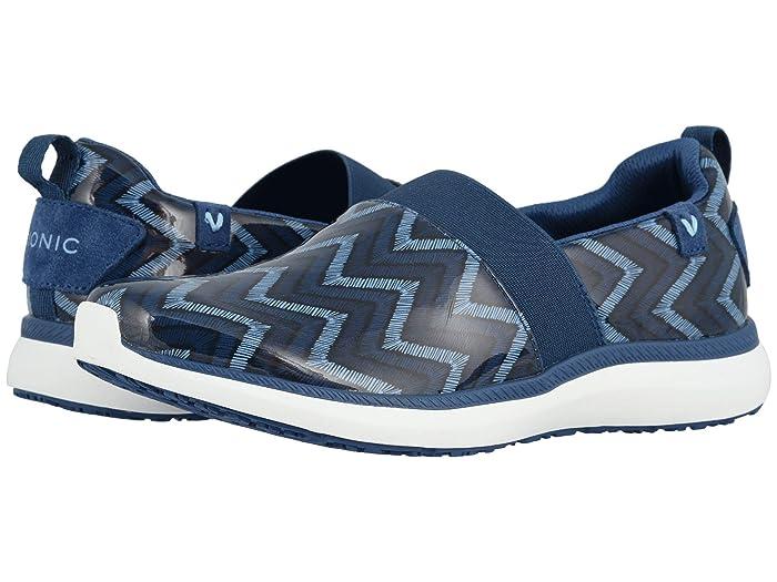 VIONIC  Fiona (Navy Chevron) Womens Shoes