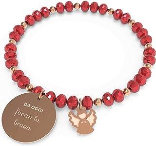 10 Buoni Propositi Bracciale Donna Brava Collezione Crystal Rose Gold