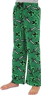 Minecraft Creeper Boys Plush Fleece Lounge Pajama Pants