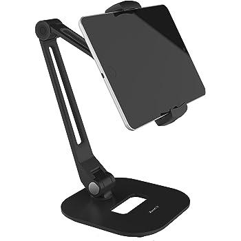 ZenCT タブレット スタンド スマホ ホルダー スマホとタブレット両用 アルミ製 底盤付き 折りたたみ式 角度調整可能 スマホとタブレット両用 iPad mini/iPad air/iPad2/3/4/ Nexus 7/ Kindle/Nintendo Switch 等タブレット&スマホ対応 WH037