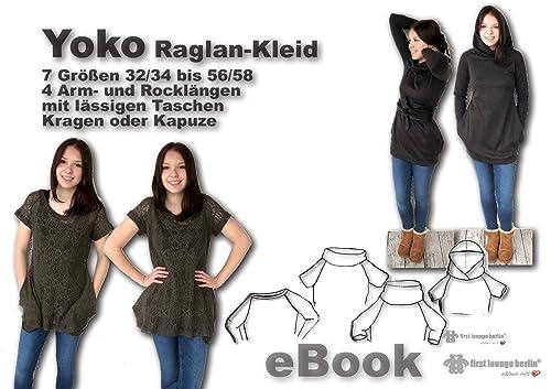 Yoko Nähanleitung mit Schnittmuster für Longshirt & Kleid in 7 Größen [Download]
