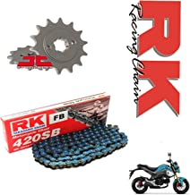 RK Racing Blue Chain and Sprocket Set : MSX125 Grom