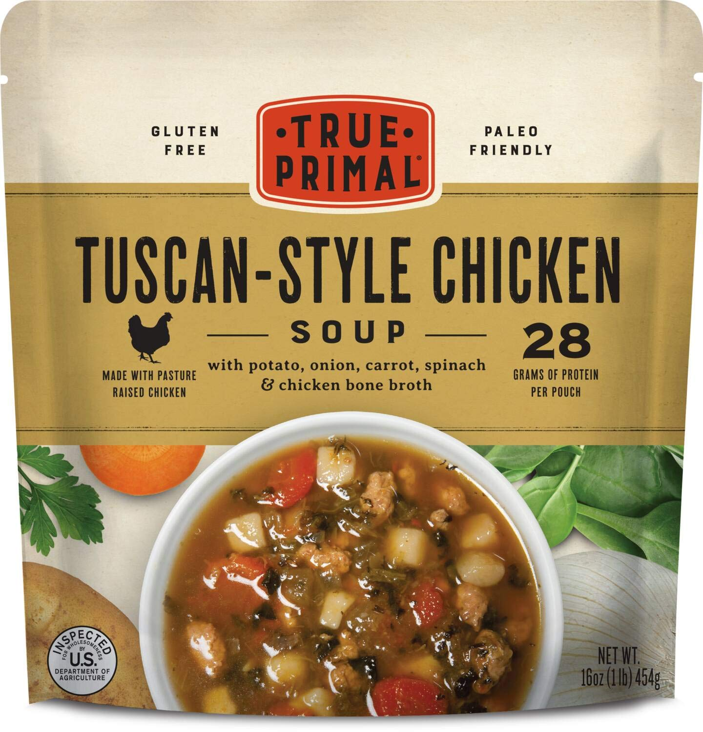 True Primal Tuscan-Style Soup 8-pack 2021 autumn and winter new Chicken Some reservation