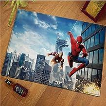 ZZXC Tapis Anime Dessin Animé Garçon Chambre Marvel Spiderman Chambre Salon Buanderie Rectangulaire Moderne Minimaliste So...