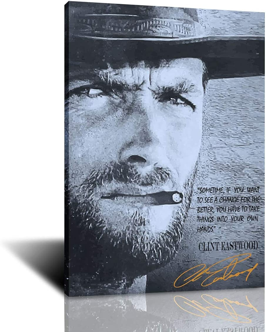 Poster Wall Quote Great Clint Picture Canvas Complete Free Shipping and Print Washington Mall Eastwood