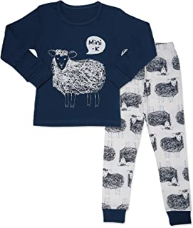 MiNiK Toddler Kids Boys Girls Sleepwear Pajamas Cotton Long Sleeve 2 Piece Pjs Set