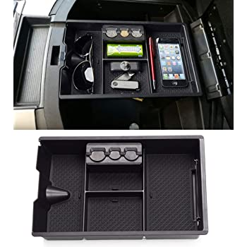 Car Center Console Organizer Tray for Dodge RAM1500 2009-2018 Armrest Secondary Storage Box Container
