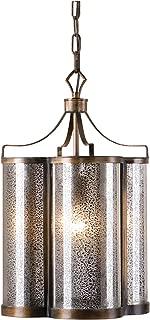 Uttermost 22061 Croydon 1 Light Mercury Glass Pendant, Bronze
