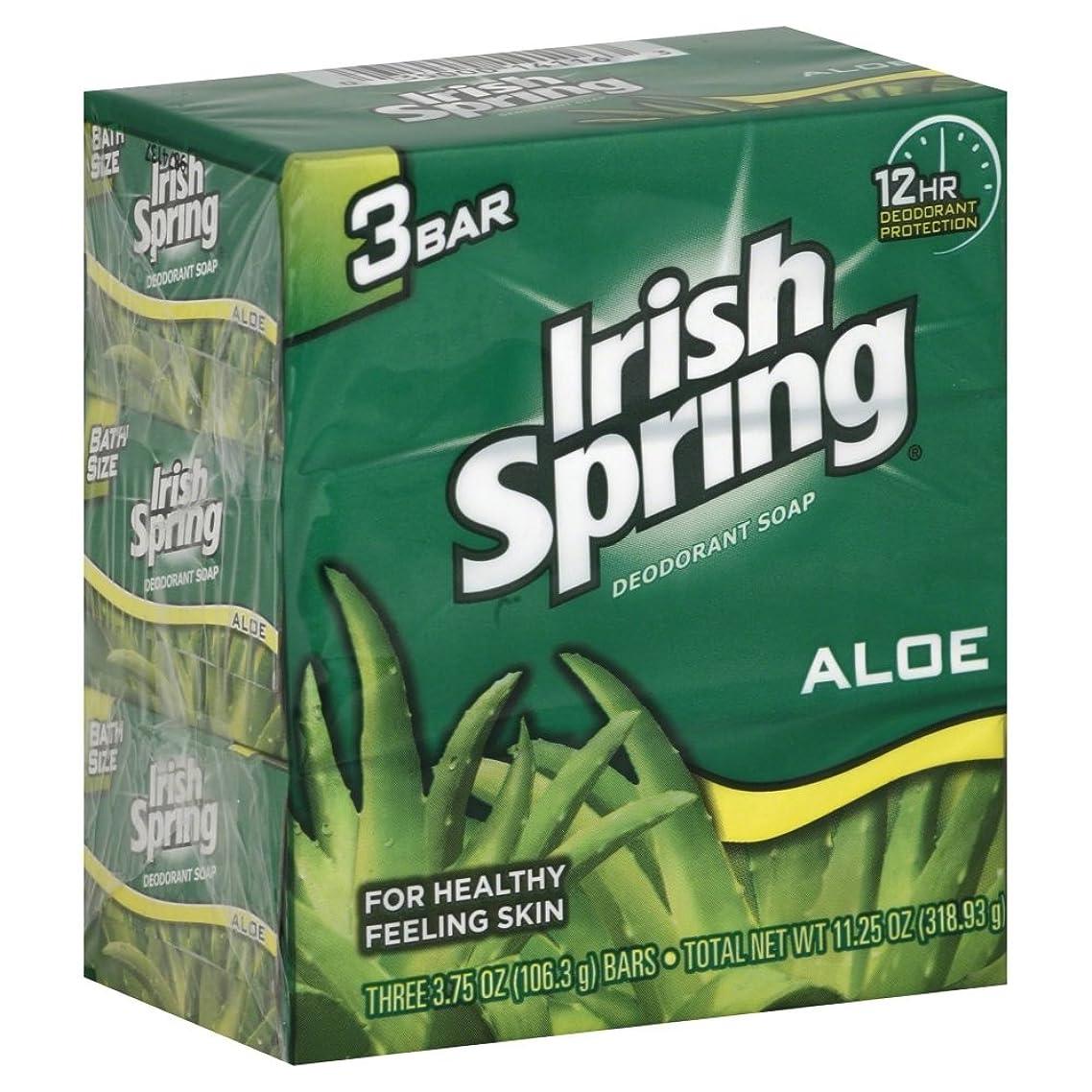 レッスンシード抹消Irish spring アイリッシュスプリング バーソープ アロエ 3個