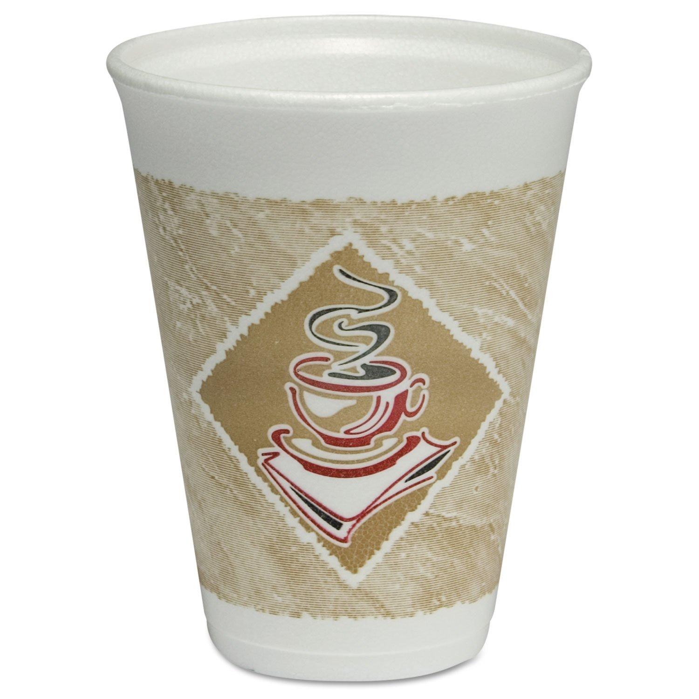 DART 12 oz Café G ThermoGlaze Foam Hot/Cold Cup, 12X12G (1,000 Count)