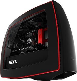 NZXT - Caja de Ordenador Manta Formato ITX con Ventana y Paneles curvos (CA-MANTW-M2), Color Negro/roja