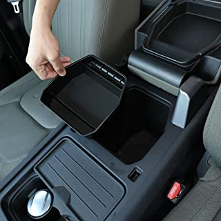 Black ABS Plastic Car Center Console Armrest Storage Box For Land Rover Defender 110 2020 2021 (Without Refrigerator)
