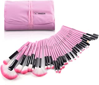 Makeup Brushes, VANDER 32pcs Professional Soft Synthetic Kabuki Cosmetic Eyebrow Shadow Makeup Brush Set Kit