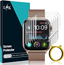 [6 Pack] LϟK Screen Protector for Apple Watch 44mm Series 6/5/4 and Apple Watch SE 44mm with [Circle Installation Tool] Bu...