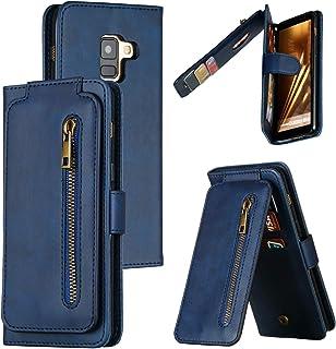 LODROC Lederen Portemonnee Case voor Galaxy A8 (2018), [Kickstand Feature] Luxe PU Lederen Portemonnee Case Flip Folio Cov...