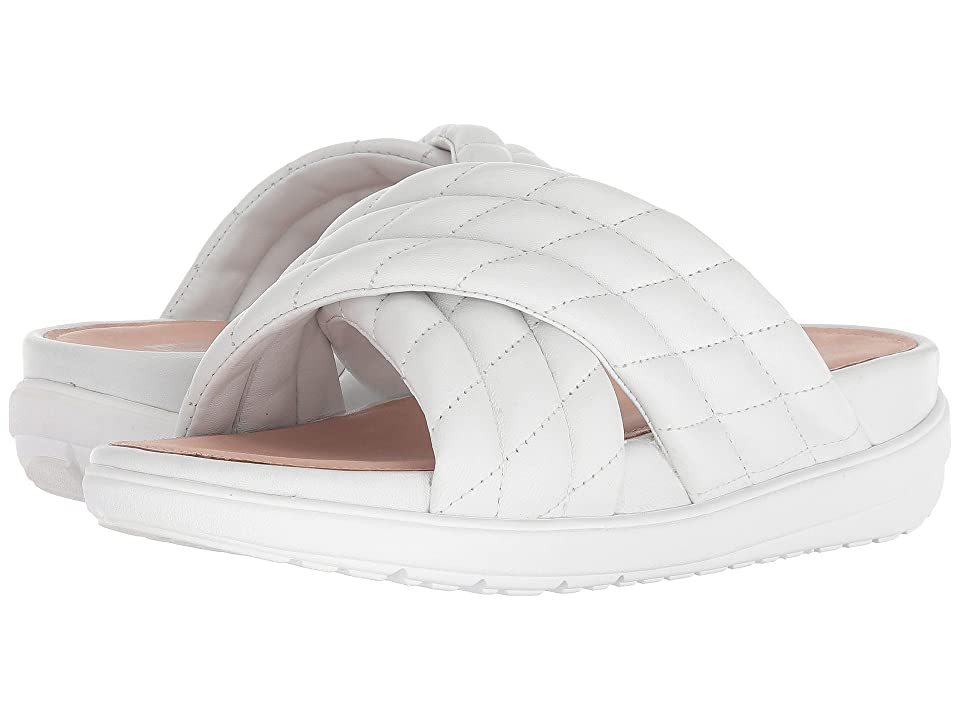 FitFlop Loosh Luxetm Cross Slide Leather Sandals (Urban White Leather) Women