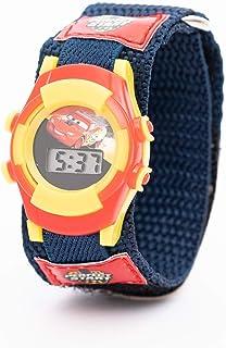 Disney Cars Boys Digital Dial with Woven Strap Wristwatch - TRHA4140