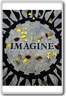 Imagine John Lennon Memorial Central Park New York - Motivational Quotes Fridge Magnet