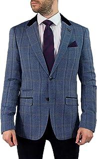 Cavani Men's Connal Slim Fit Tweed Check Jacket Blazer