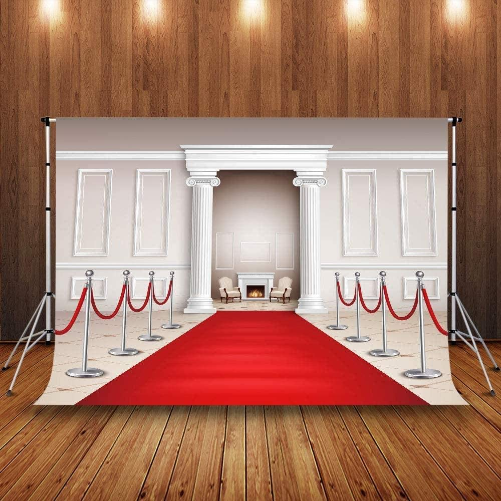 Zhy Football Field Backdrop for Photography 7x5ft 2.1x1.5m Grass Golden Guard Background Party Decor Supplies Photo Shooting Props 184