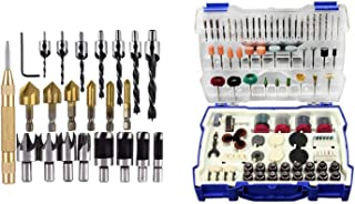 Gulakey Woodworking Drilling Or Chamfer Tool,8Pc Wood Plug Cutter,6Pcs 1//4 Inch Hex Shank 5 Flute 90 Degree Countersink Drill Bits,7Pcs Three Pointed Countersink Drill Bit with L-Wrench