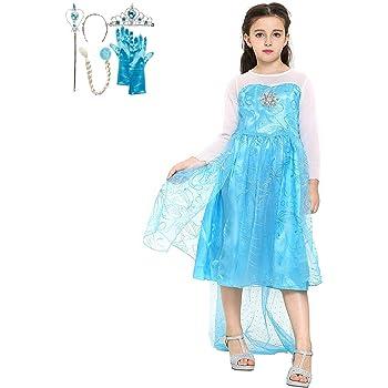 Katara 1099 Disfraz de Elsa Frozen con Set de Princesa - Niñas 8-9 ...