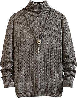 [リレル] ハイネック セーター ニット シンプル 無地 カジュアル メンズ M~XXL