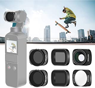 5pcs Wide Angle 12.5X Macro Star CPL ND16 Lens Filters Kit for Outdoor Photography Compatible with DJI Osmo Pocket Filter Set for DJI Osmo Pocket Gimbal Handheld Camera