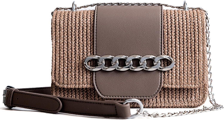 HopeEye Womens Fashion Trends Straw Women's Shoulder Bag