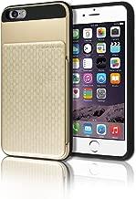 iPhone6 Plus & iPhone6S Plus (شاشة 5 بوصة) [جراب محفظة مخفي يد] [فتحة للبطاقات] [شديد التحمل] [تصميم نحيف] [مقبض منسوج] غطاء صلب هجين صلب درع مقاوم للسقوط لهاتف Apple iPhone 6 6S Plus +