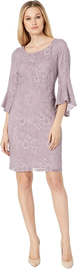 Lace 3/4 Peplum Sleeve T-Shirt Dress