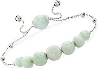 Ross-Simons Pearl and Jade Adjustable Bolo Bracelets in Sterling Silver