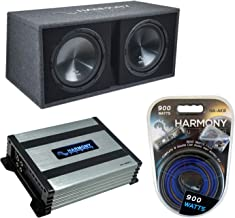 "$249 » Harmony Audio HA-RD12 Car Rhythm Loaded Dual 12"" Vented 1200W Sub Box Bundle with HA-A400.1 Amplifier & Amp Kit"