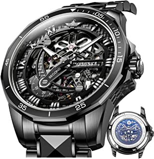 Skeleton Watches for Men-Automatic Watch Men-Mechanical 3D dial Self Winding Japan Movement with...
