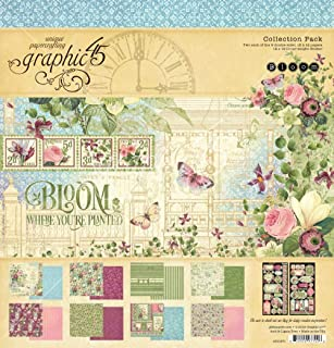 Graphic 45 4501871 Bloom 12x12 Collection Pack Craft Paper, Multi