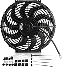 Maxiii 12 Inch Radiator Cooling Fans Universal Slim Pull Push Black Electric Fan 12V 80W 2150CFM with Mount Kit