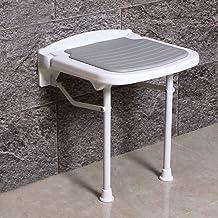 Yxsd Bathroom Folding Stool Seat Shower Stool Anti-Slip Bathroom Elderly Bath Seat Bench Wall Stool (Color : Gray, Size : ...