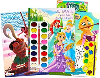 Paint with Water Super Set for Girls Kids Toddlers -- Bundle Includes 3 Deluxe Paint Books with Paint Brushes (Featuring D...
