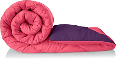 Amazon Brand - Solimo Microfiber Reversible Comforter, Double (Vivid Pink & Majestic Purple, 200 GSM)