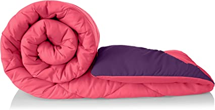 Amazon Brand - Solimo Microfibre Reversible Comforter, Single (Vivid Pink & Majestic Purple, 200 GSM)
