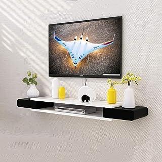 Noir et blanc meuble TV plateau haut étagère salon TV mur fond étagère murale chambre à coucher décoration murale étagère ...