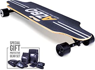 Electric Skateboard Longboard with Remote Control - Gift Protective Gear Set & 800W Dual Hub Motor UL2272 Certified/Motorized Powered Board C5 for Adults - 17 MPH Speed 8 Layers Maple