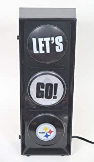Pittsburgh Steelers Flashing Let's go Light sequential Flashing Electric Light, Free Stand or Wall mountable, Size 5.88